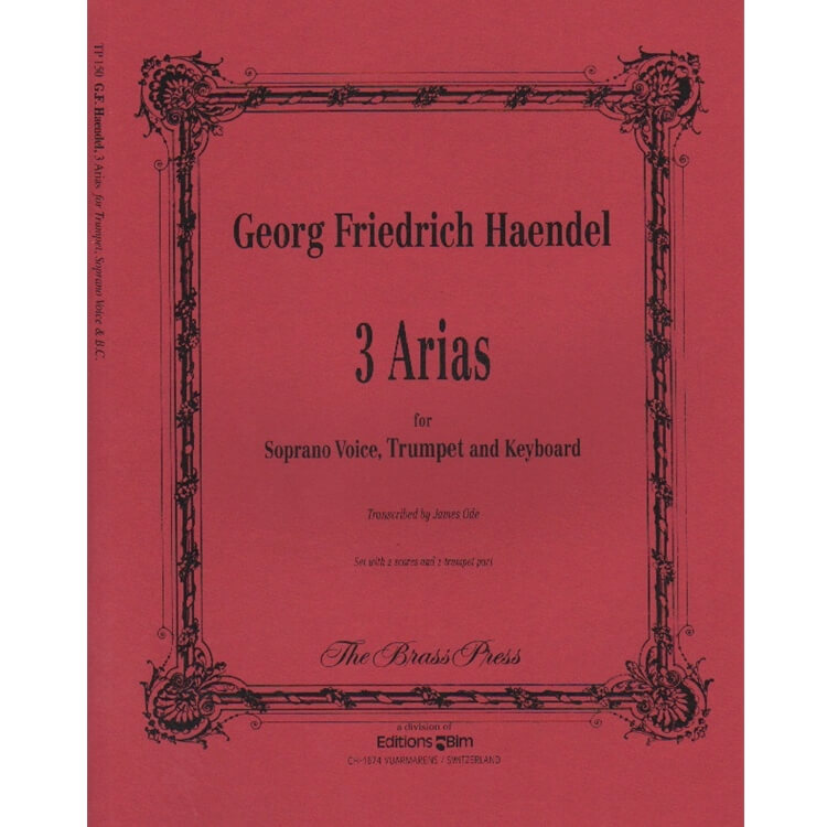 3 Arias - Soprano Voice, Trumpet, and Piano