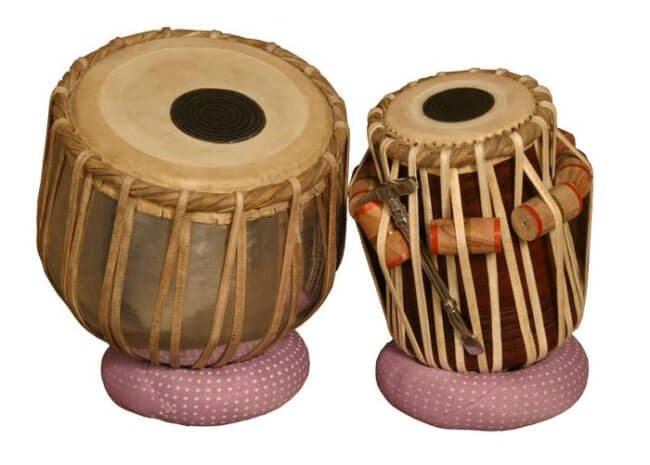 "banjira Standard Tabla Set Aluminum Bayan and 5.25"" Dayan"