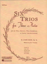 6 Trios for Three Flutes (or Violins), Op. 83 - Score