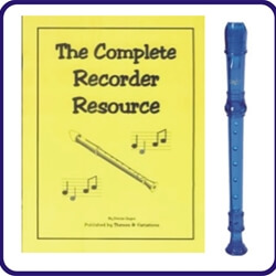 Blue Cantos Recorder & Complete Recorder Resource Book