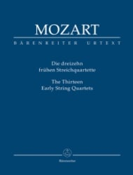 13 Early String Quartets - Study Score