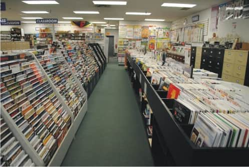 shopping aisle with sheet music