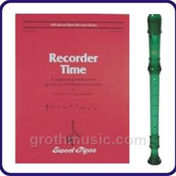 Green Cantos Recorder & Recorder Time Book